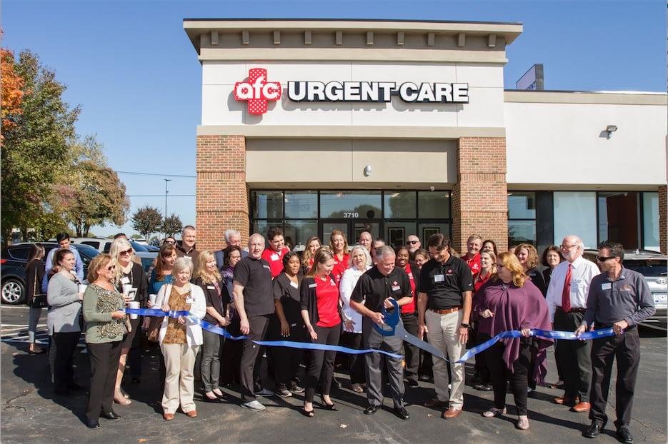 AFC Urgent Care Center ribbon cutting